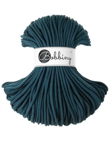 Bobbiny 5mm PEACOCK BLUE Braided Cord 100m