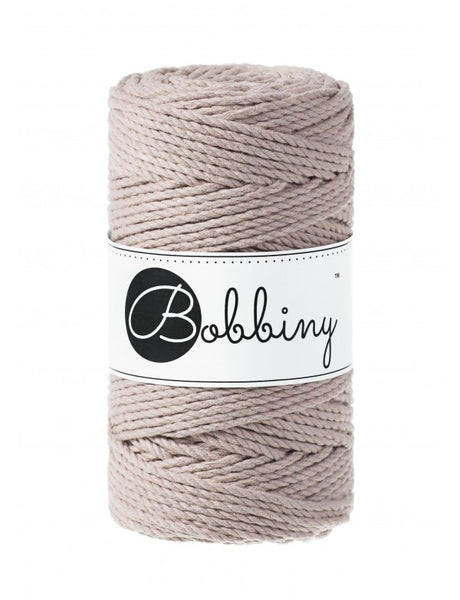 Bobbiny 3mm PEARL 3ply Macrame Cords 100m