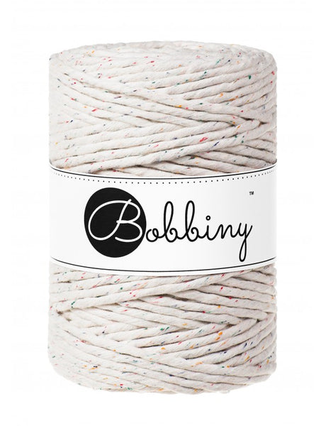 Bobbiny 5mm RAINBOW DUST Single Twist Macrame Cord 100m