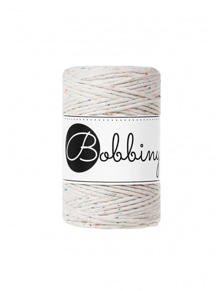 Bobbiny 1.5mm RAINBOW DUST Single Twist Macrame Cord 100m
