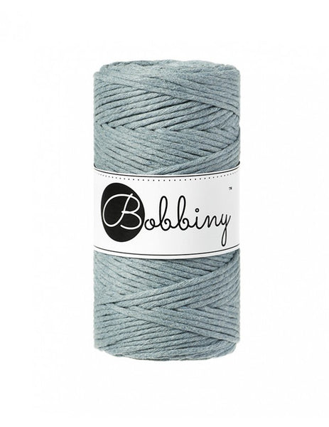 Bobbiny 3mm RAW DENIM Single Twist Macrame Cord 100m
