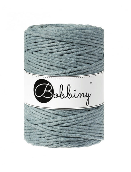 Bobbiny 5mm RAW DENIM Single Twist Macrame Cord 100m