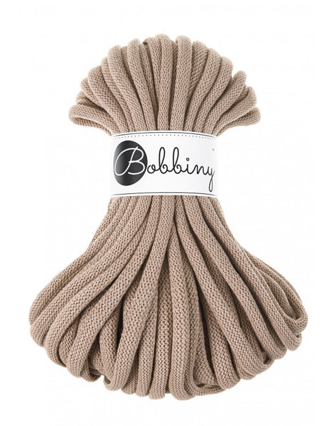 Bobbiny Jumbo 9mm SAND Cotton Cord 20m