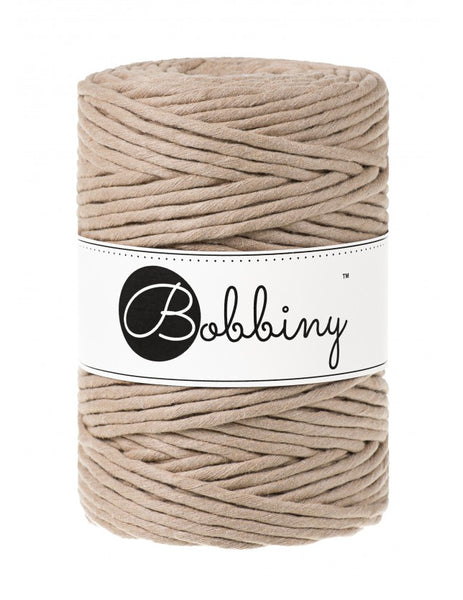 Bobbiny 5mm SAND Single Twist Macrame Cord 100m