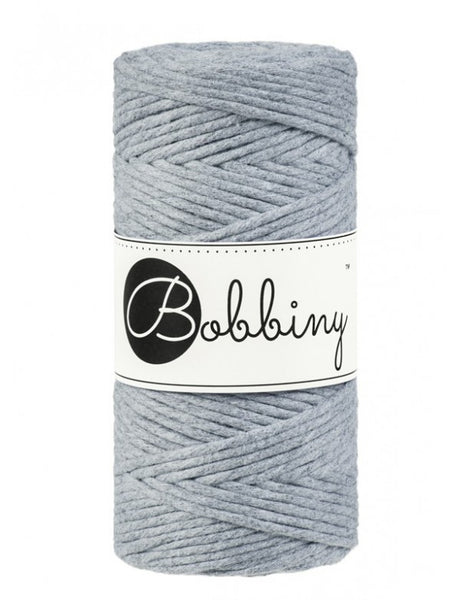 Bobbiny 3mm SILVER Single Twist Macrame Cord 100m