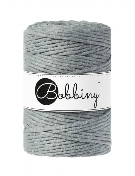 Bobbiny 5mm STEEL Single Twist Macrame Cord 100m