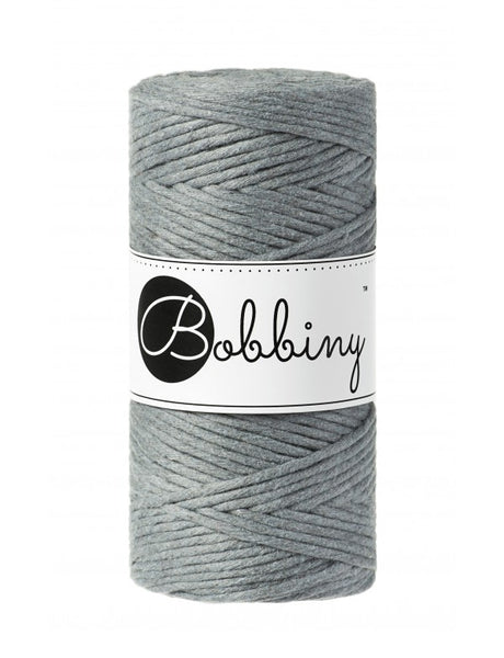 Bobbiny 3mm STEEL Single Twist Macrame Cord 100m