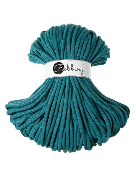 Bobbiny Jumbo 9mm TEAL Braided Cord 100m