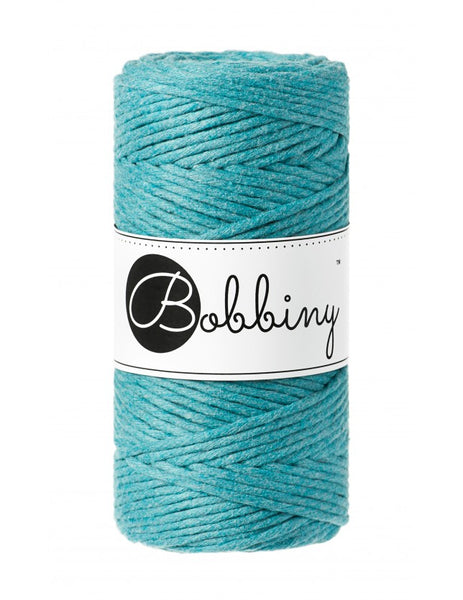 Bobbiny 3mm TEAL Single Twist Macrame Cord 100m