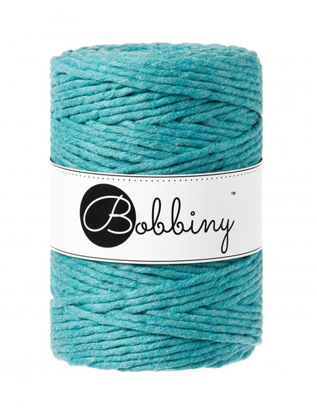 Bobbiny 5mm TEAL Single Twist Macrame Cord 100m