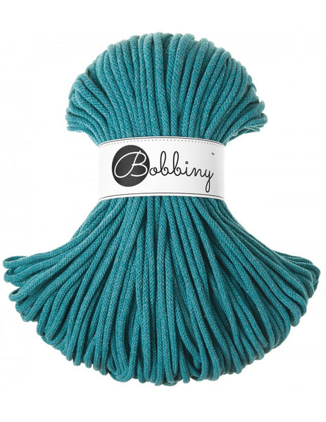 Bobbiny 5mm TEAL Braided Cord 100m