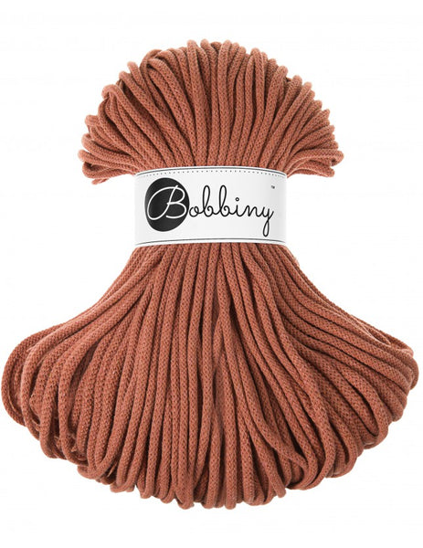 Bobbiny 5mm TERRACOTTA Cotton Cord 100m