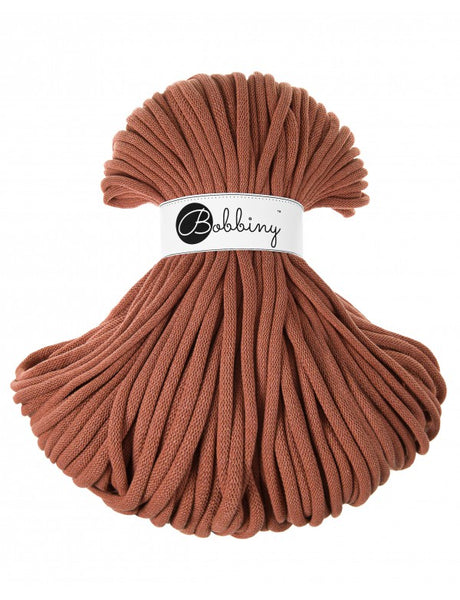 Bobbiny Jumbo 9mm TERRACOTTA Cotton Cord 100m