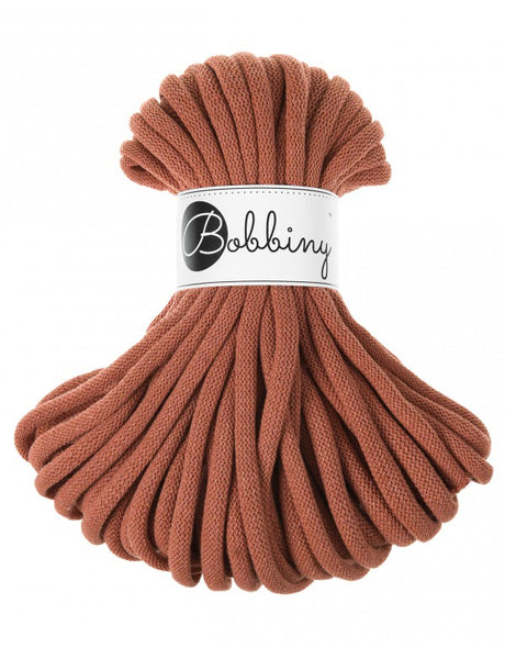 Bobbiny Jumbo 9mm TERRACOTTA Braided Cord 10m