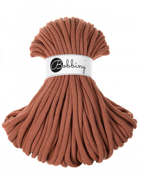 Bobbiny Jumbo 9mm TERRACOTTA Braided Cord 50m