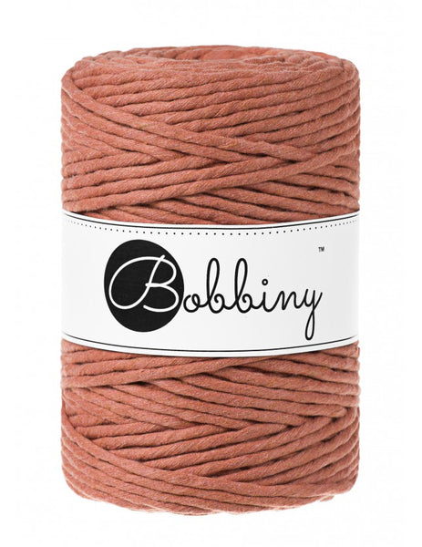 Bobbiny 5mm TERRACOTTA Single Twist Macrame Cord 100m