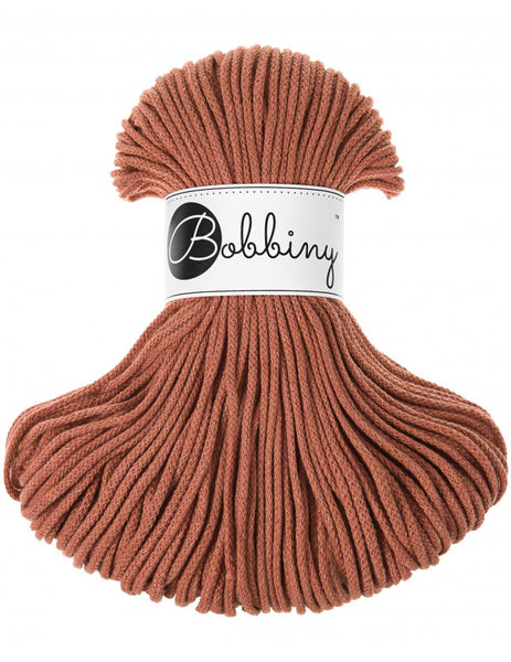 Bobbiny 3mm TERRACOTTA Cotton Cord 100m