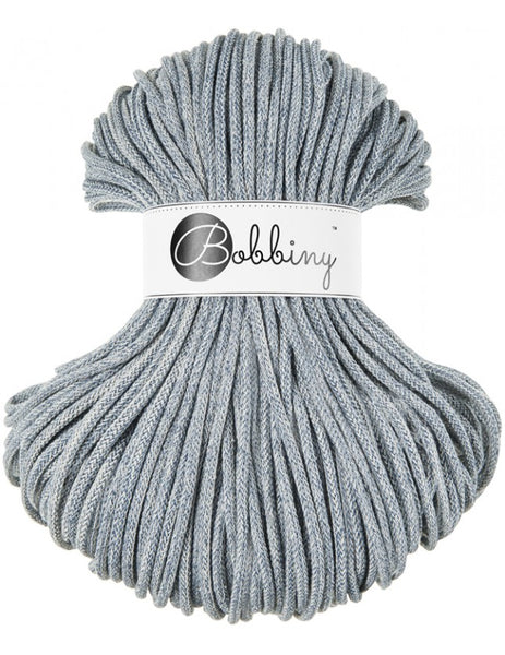 Bobbiny 5mm DENIM WASHED OUT Cotton Cord 100m