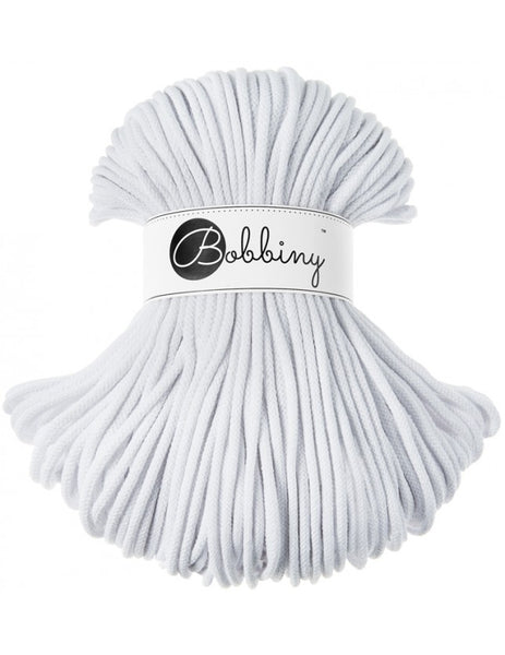 Bobbiny 5mm WHITE Braided Cord 100m