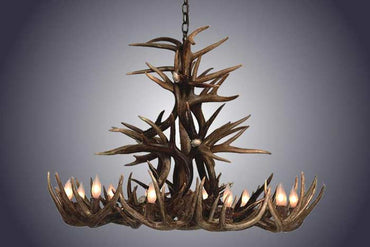10 Light Whitetail Antler Chandelier