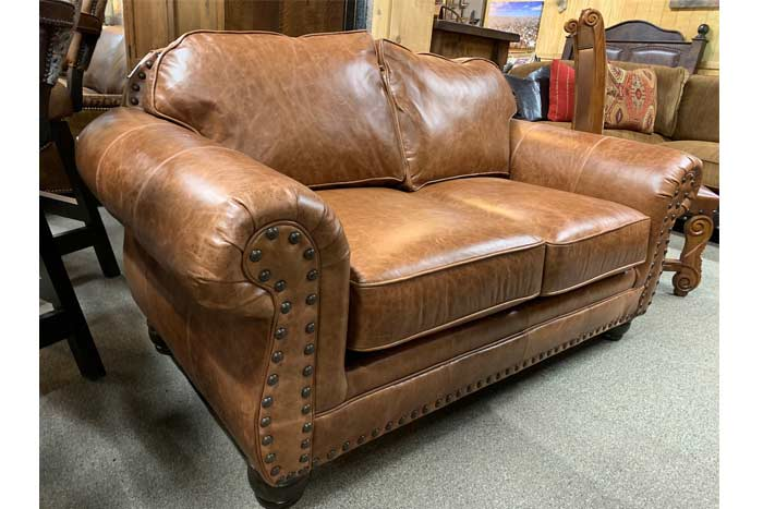 Whiskey Leather Loveseat