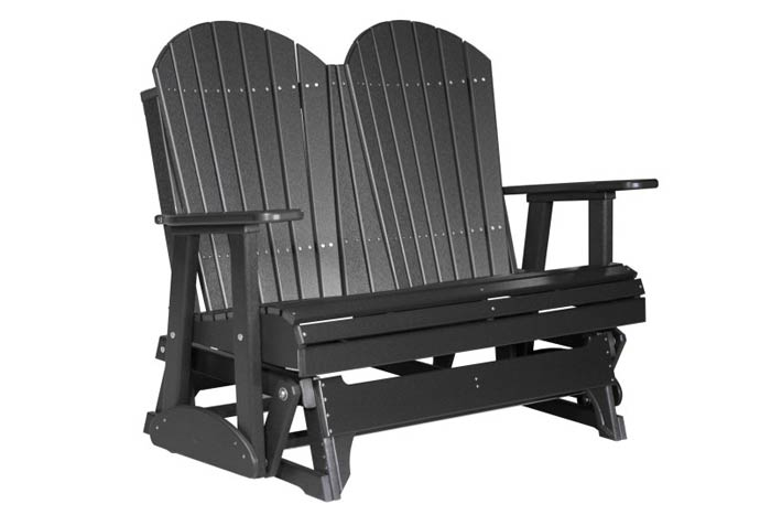 4' Fan Back Outdoor Glider Bench