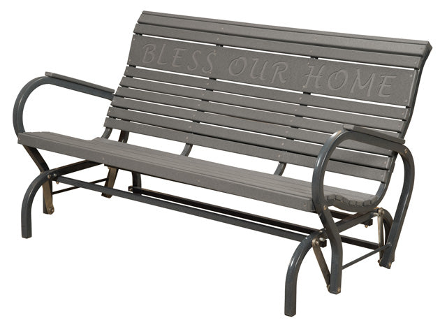 Poly Outdoor Glider Bench