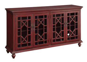 Red Media Cabinet