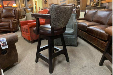 Aged Gator Swivel Stool
