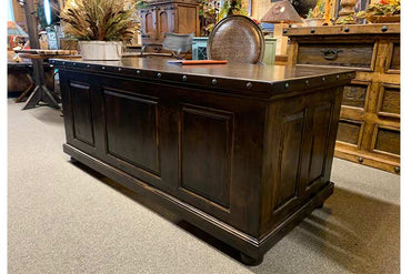 Alamo Executive Office Desk With Nailhead Trim