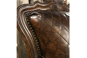Diamond Quilted Leather Accent Chair