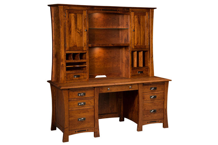 Rustic Desk With Hutch