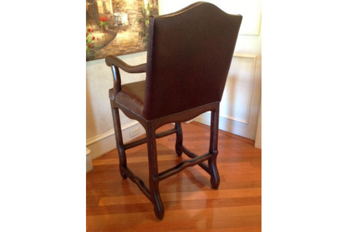 Western Leather Barstool