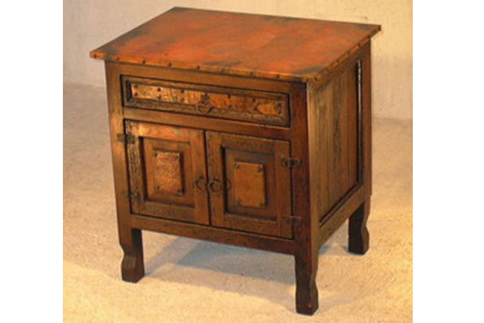 Copper-Top Nightstand