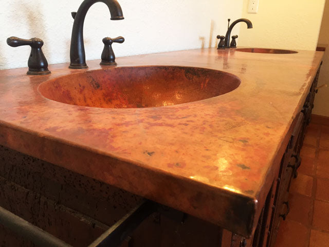 Copper Custom Vanity