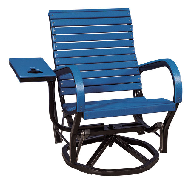 Poly Roll Back Swivel Glider Outdoor Chair