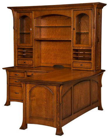 Westcliff L-Shaped Desk With Hutch