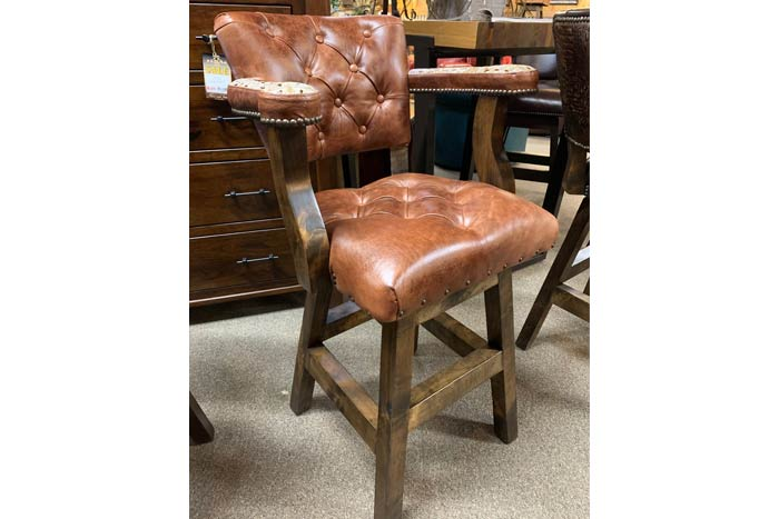 Chisum Barstool with Brompton Leather and Gator