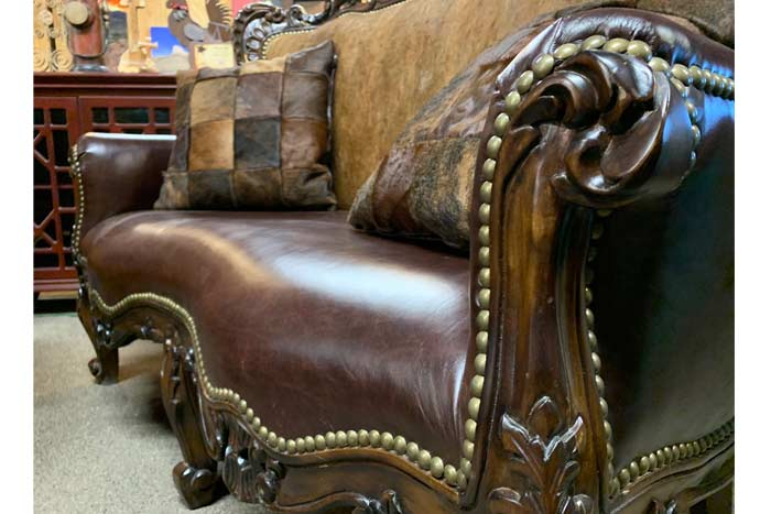 Rustic Cowhide Furniture