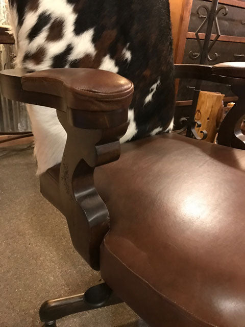 Leather and Cowhide Office Chair