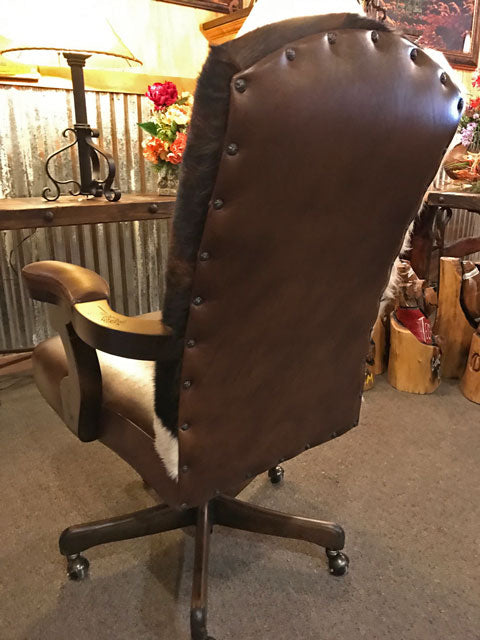Western Leather Desk Chair