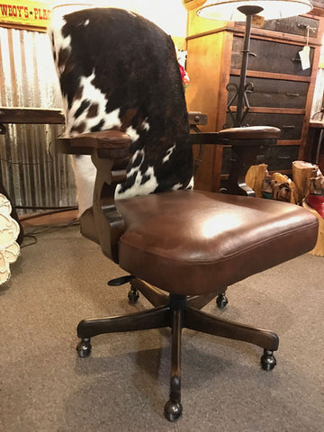 Western Leather and Cowhide Office Chair