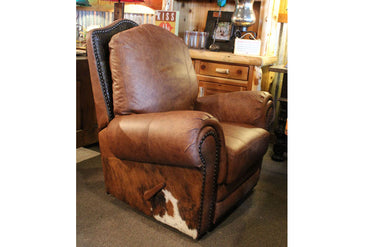 El Patron Recliner - Dark Gator and Cowhide