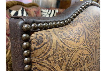 Chocolate Brown Western Leather Office Chair