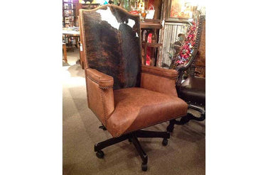 Cowhide And Leather Office Chair