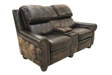 Leather and Cowhide Theater Seating