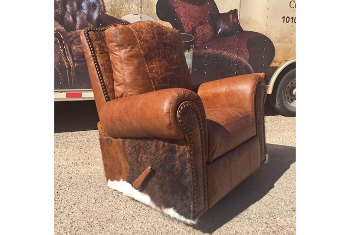 Gator and Cowhide Recliner