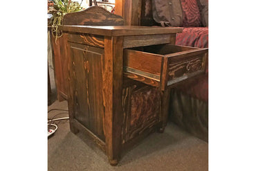 Western Leather Nightstand