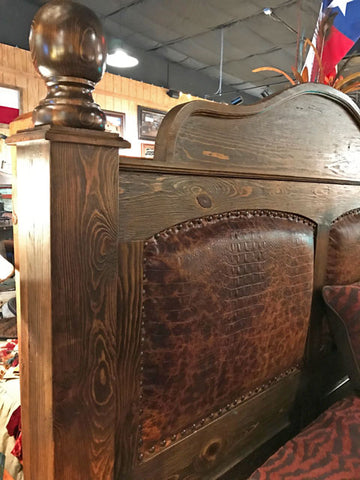 Western Leather Bed