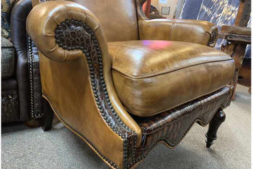 Charlotte Leather Wingback Chair